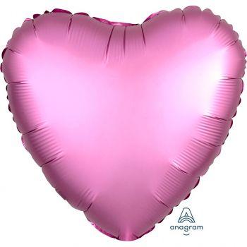 Ballon aluminium cœur rose 43cm