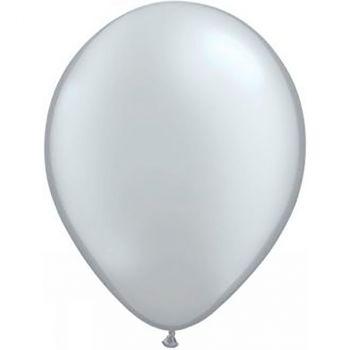 Ballon latex argent métallisé 28cm