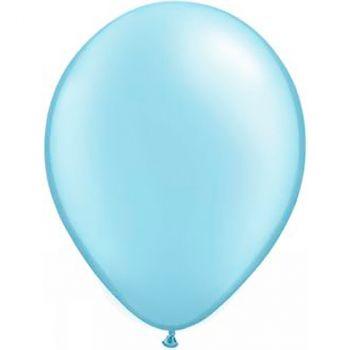 Ballon latex bleu métallisé 28cm