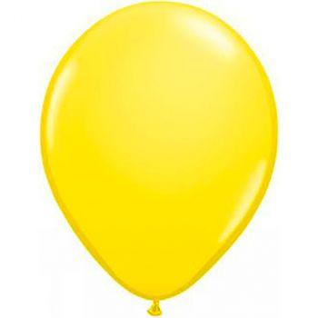 Ballon latex jaune 28cm