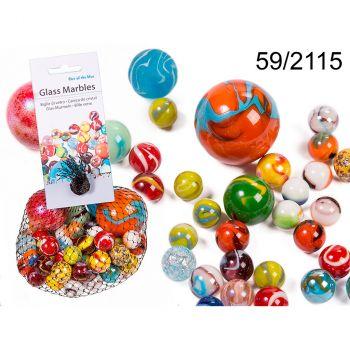Billes en verre multicolore 500gr