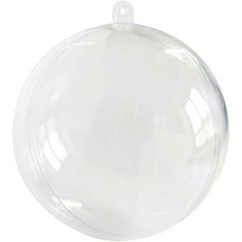 Boule contenant à dragées transparent 8cm