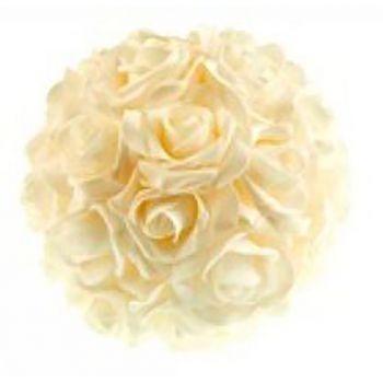 Boule fleur blanc D20cm