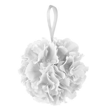 Boule fleurs blanc D17cm
