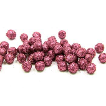 Boule pailletée rose