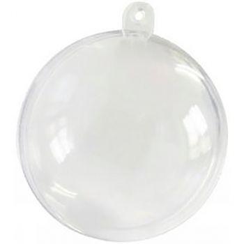 Boule transparente plastique D 10cm