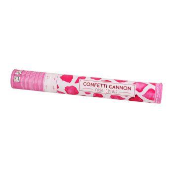 Canon à confettis pétales rose 40cm