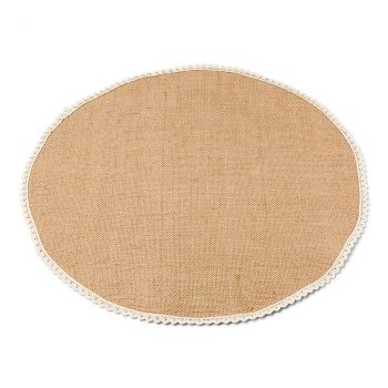 Centre de table jute dentelle 50cm