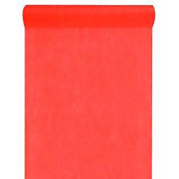 Chemin de table intissé uni rouge 30cmx10m