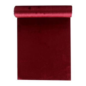 Chemin de table rouge velours 28cmx3m