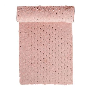 Chemin de table Softness rose 28cmx3m