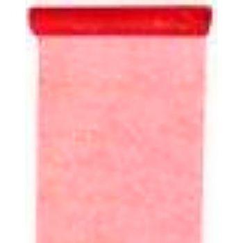 Chemin de table tulle pailleté rouge 30cmx5m