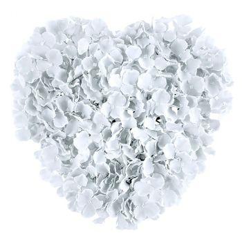 Cœur fleurs blanc 41cm