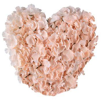 Cœur fleurs corail 41cm