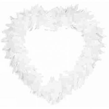 Cœur plume blanc