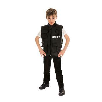Costume garçon gilet pare-balles SWAT 140cm