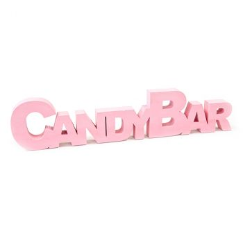 Décoration de table candy bar rose