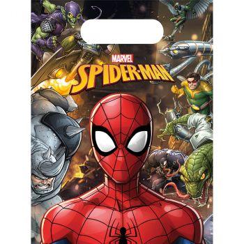 Lot 6 sacs cadeaux spiderman