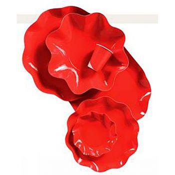 Lot de 10 assiettes 27 cm rouge vif