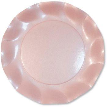 Lot de 10 assiettes à dessert rose perlé 21cm