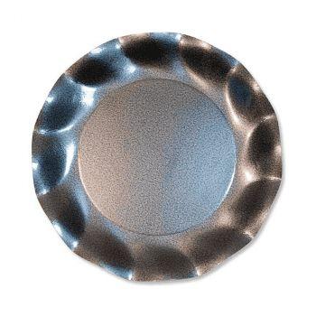 Lot de 10 assiettes gris perle 27cm