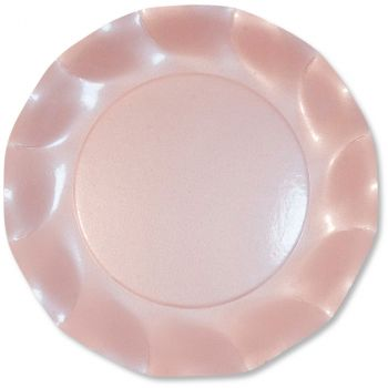 Lot de 10 assiettes rose perlé 27cm