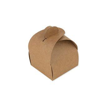 Lot de 10 boîtes arrondies kraft 7cm