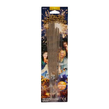 Lot de 10 cierges magiques 25cm F1
