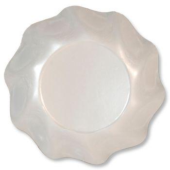 Lot de 10 coupelles rondes  blanc perlé 18cm