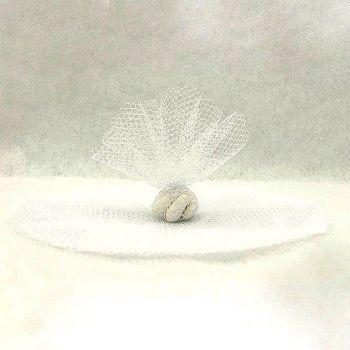Lot de 10 ronds en tulle blanc
