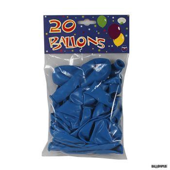 Lot de 20 ballons bleu latex 25cm