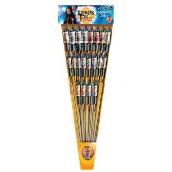 Lot de 20 fusées F2