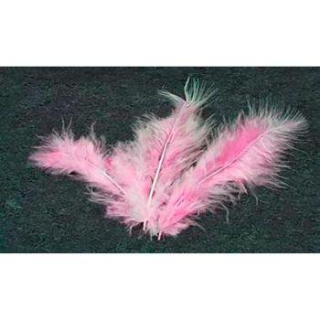 Lot de 20 plumes décoratives rose 10cm