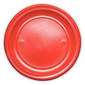 Lot de 25 assiettes réutilisables rouge 17cm