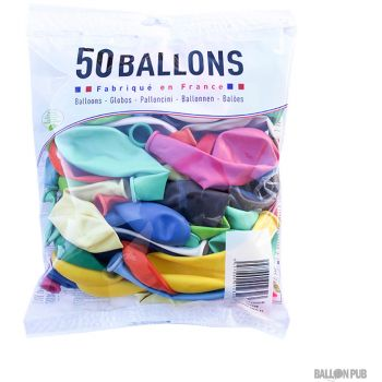 Lot de 50 ballons multicolore  latex 25cm