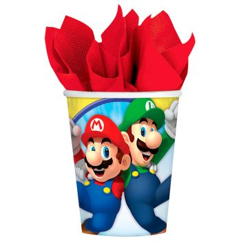 Lot de 8 gobelets super mario 25cl