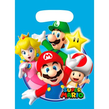 Lot de 8 sachets plastique super mario