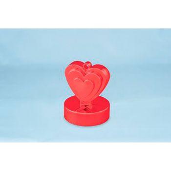 Poids cœur rouge
