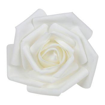 Rose géante 30cm blanc