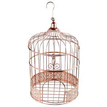 Tirelire cage métal rose gold 31cm