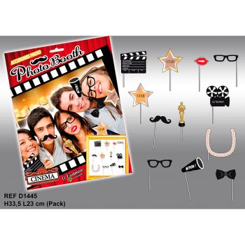 Assortiement photobooth cinéma 12 pièces