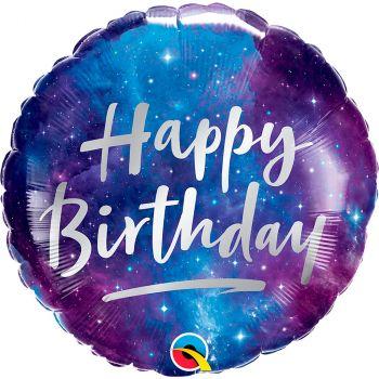 Ballon aluminium 18 pouces birthday galaxy