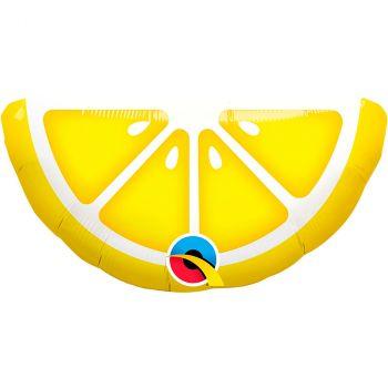 Ballon aluminium 14 pouces en forme de citron jaune
