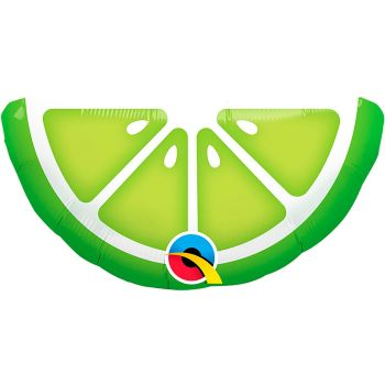 Ballon aluminium 14 pouces en forme de tranche citron vert