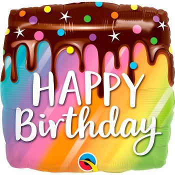 Ballon aluminium 18 pouces cake birthday carre