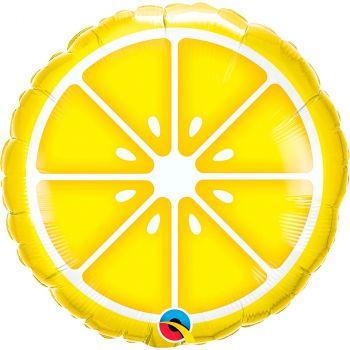 Ballon aluminium 18 pouces citron rond