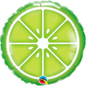 Ballon aluminium 18 pouces citron vert rond
