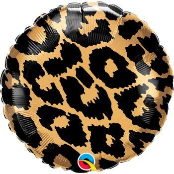 Ballon aluminium 18 pouces léopard