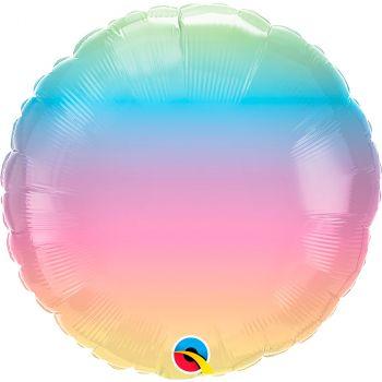 Ballon aluminium 18 pouces pastel ombre