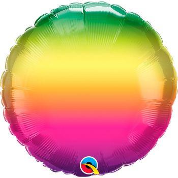 Ballon aluminium 18 pouces vibrant ombre